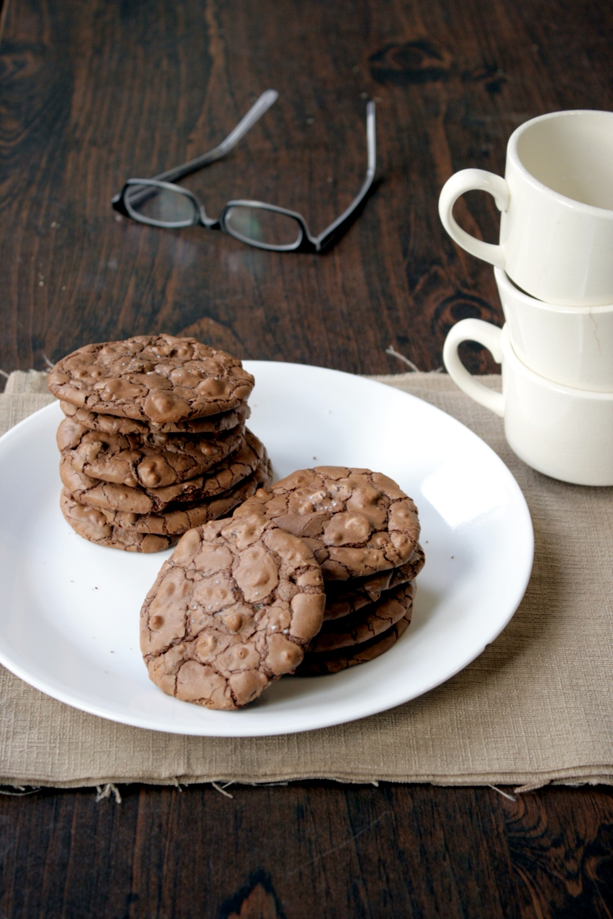 salted chocolate toffee cookies