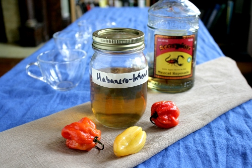 Habanero Infused Mezcal (adapted from Food & Love )