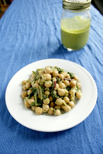 lemon basil chickpea salad