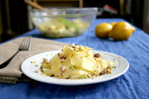 Shaved Squash Salad (adapted from Food and Wine )