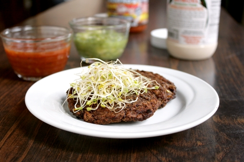 mushroom black bean patties