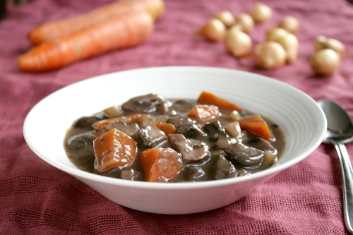 Mushroom Bourguignon (adapted from Le Delicieux )