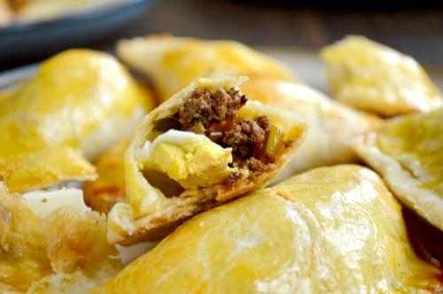 beef olive and egg empanadas