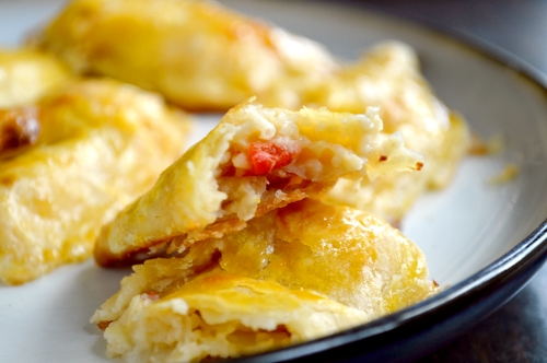 corn and roasted pepper empanadas