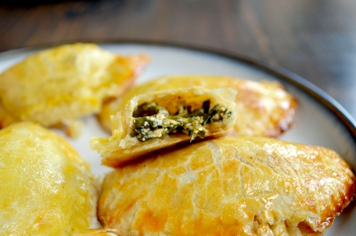 spinach and three cheese empanadas