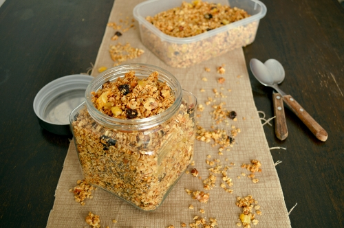pear ginger nut granola