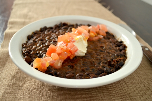 spicy citrusy black beans