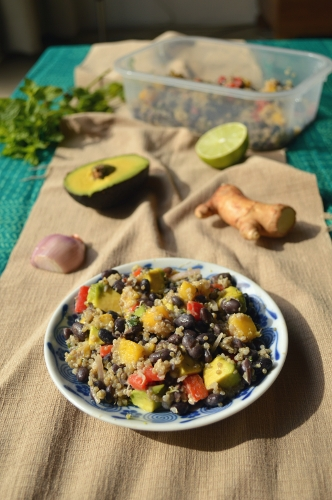 tropical black bean quinoa salad